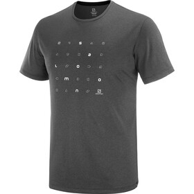 Salomon Agile Graphic Kurzarm T-Shirt Herren black/ebony/heather